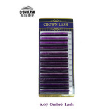 CrownLash Russian Volum Lash Extension D 0 07 7 15mm Dual Color Purple Ombre Lash Voilet