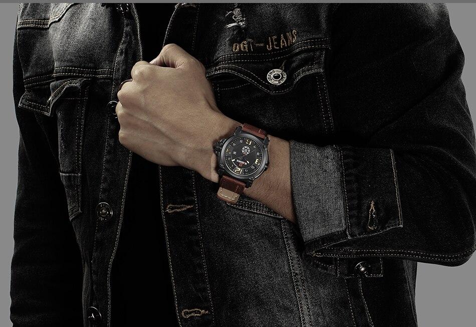 IA2A5171  High Model Luxurious NAVIFORCE Males Sports activities Watches Males's Military Navy Leather-based Quartz Watch Male Waterproof Clock Relogio Masculino HTB1OifpXvNZWeJjSZFpq6xjBFXa0