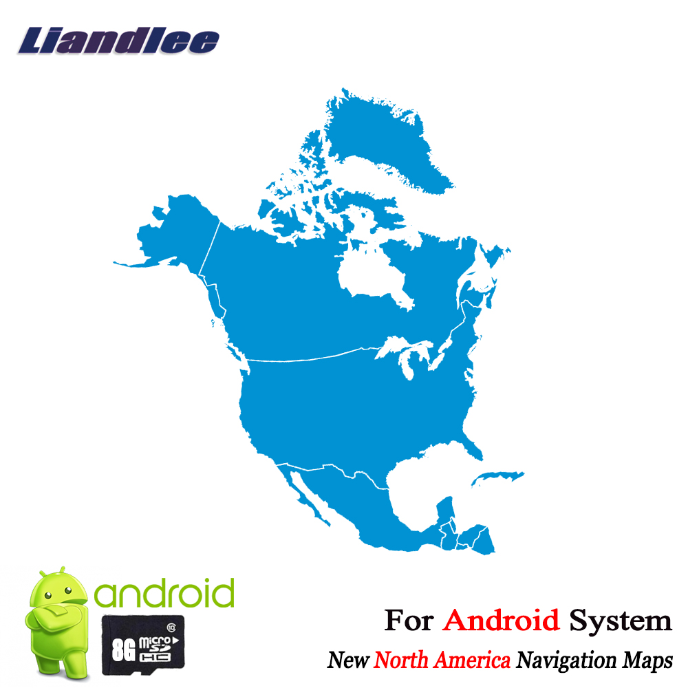 US $15.99 |Liandlee 8GB SD Card GPS Navigation Maps card Android for North  America Canada United States Panama Costa Rica Mexico Jamaica-in Car ...