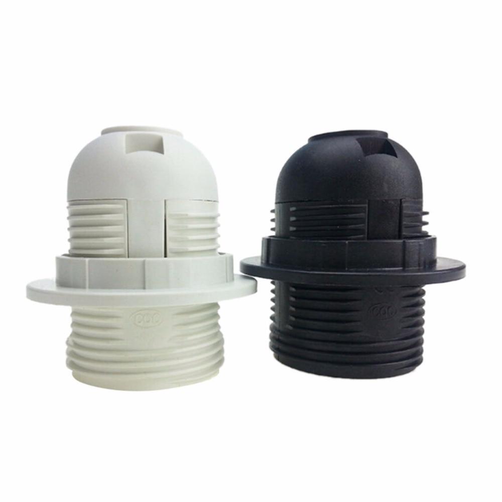 250V E27 LED Plastic Lamp Holder E27 Edison Screw Light Bulb Socket Holder DIY E27 Socket Base Lamp Accessories Luminaire