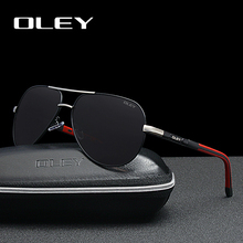 OLEY Brand Fashion Men Sunglasses Polarized Retro Classic Pilot Aluminum Glasses Driving HD Goggles Shades For Men/Wome R7614