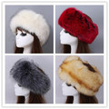 Autumn and winter women's Fashion faux fox fur hat female women's winter faux fur hat cap