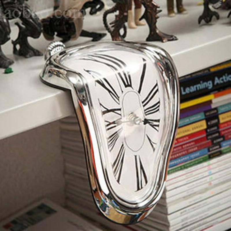 Modern Design Surrealist Salvador Dali Style Wall Clock  Novel Surreal Melting Distorted Wall Clock Amazing Home Decoration 1