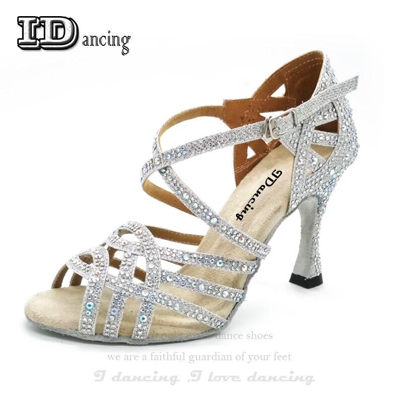 Detail Feedback Questions about Rhinestone Latin Dance Shoes Women Salas Ballroom  Shoes Pearl High Heel Waltz Software Shoes Hot Sale IDancing on ... aca159a88a66