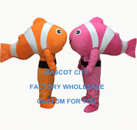 clown fish mascot costume 1 piece adult size cartoon fish theme anime cosplay costumes carnival fancy dress 3447