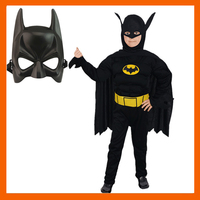 2017 HIGH QUALITY CHILDREN MUSCLE BATMAN COSTUME WITH MASK FOR KID HALLOWEEN SUPERHERO COSPLAY CARNIVAL COSTUME