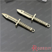 Free Shipping Wholesale 61*13mm Antique Bronze Dagger Alloy 3D Charms Pendants Diy Jewelry Findings Accessories 10PCS(JM4227)
