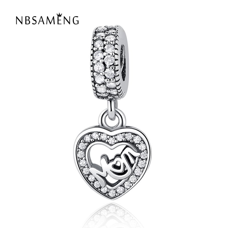 00b97a8cc Authentic 100% 925 Sterling Silver Beads Centre of My Heart Pendants Charms  Fit Original Pandora Bracelets & Bangles DIY Jewelry-in Beads from Jewelry  ...