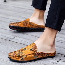 Summer new fashion peas shoes half drag lazy