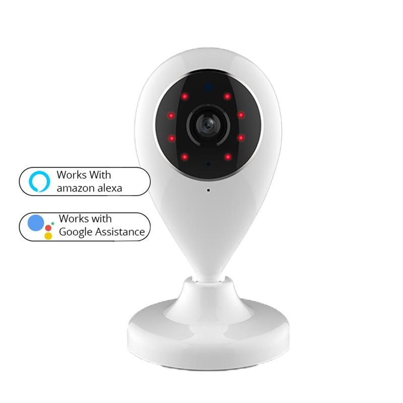 Caméra de sécurité HD 720 P WIFI caméra de Surveillance vidéo sans fil IP Compatible avec Alexa Echo Show et Google Home