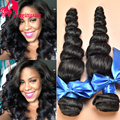 8A Indian Virgin Hair Loose Wave 4bundles Raw Indian Hair Loose Wave Virgin Hair Indian Loose Curly Weave Human Hair Extensions