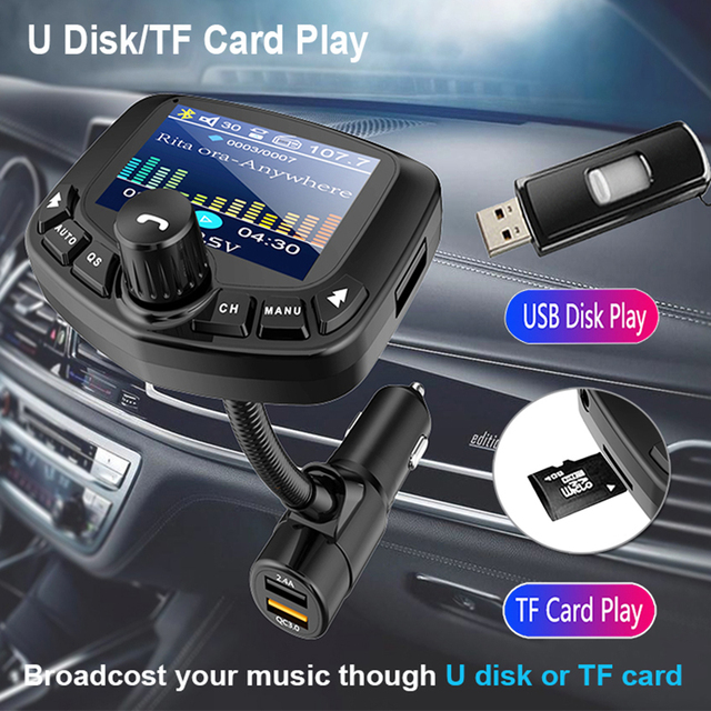 Car Bluetooth 5.0 with FM Transmitter