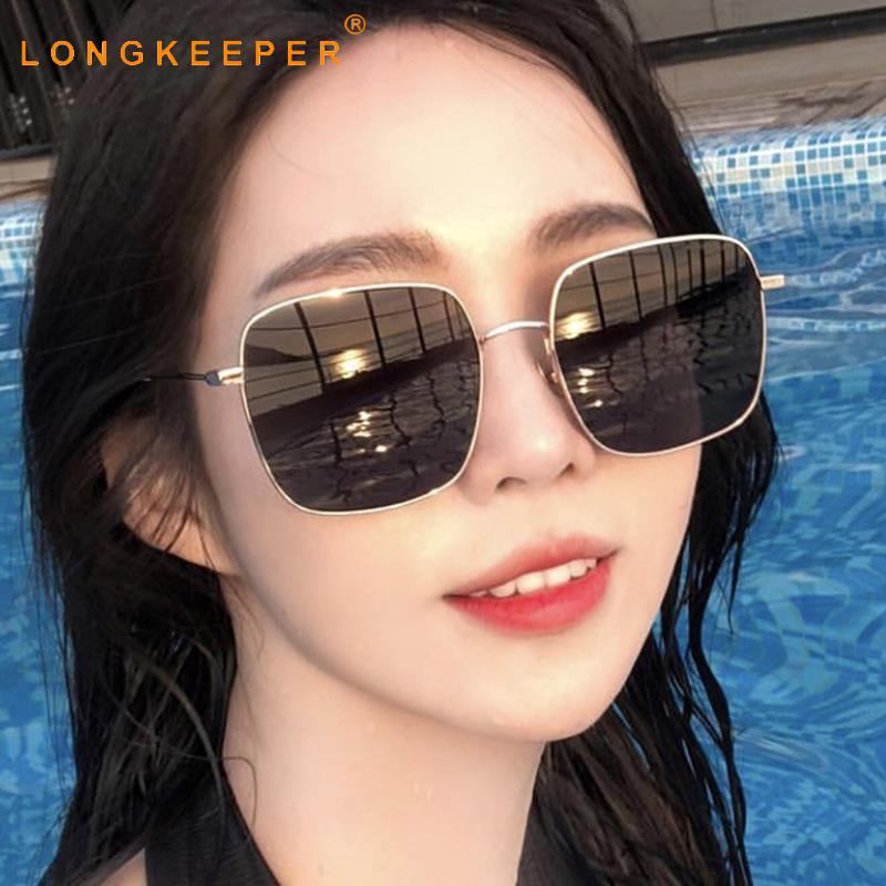 LongKeeper Luxury Metal Sunglasses Woman Classic Brand Vintage Square Glasses Frame Film Travel Eyewear For Female 1235 in Women 39 s Sunglasses from Apparel Accessories