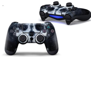 Image 3 - Crânio azul capa protetora adesivo para ps4 controlador de vinil pele para playstation4 joypad decalque para sony ps4 gamepad acessórios