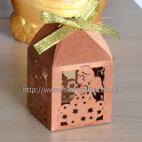 Laser Cut Angel Bronze Favor Boxes For Baby Shower Gifts India In