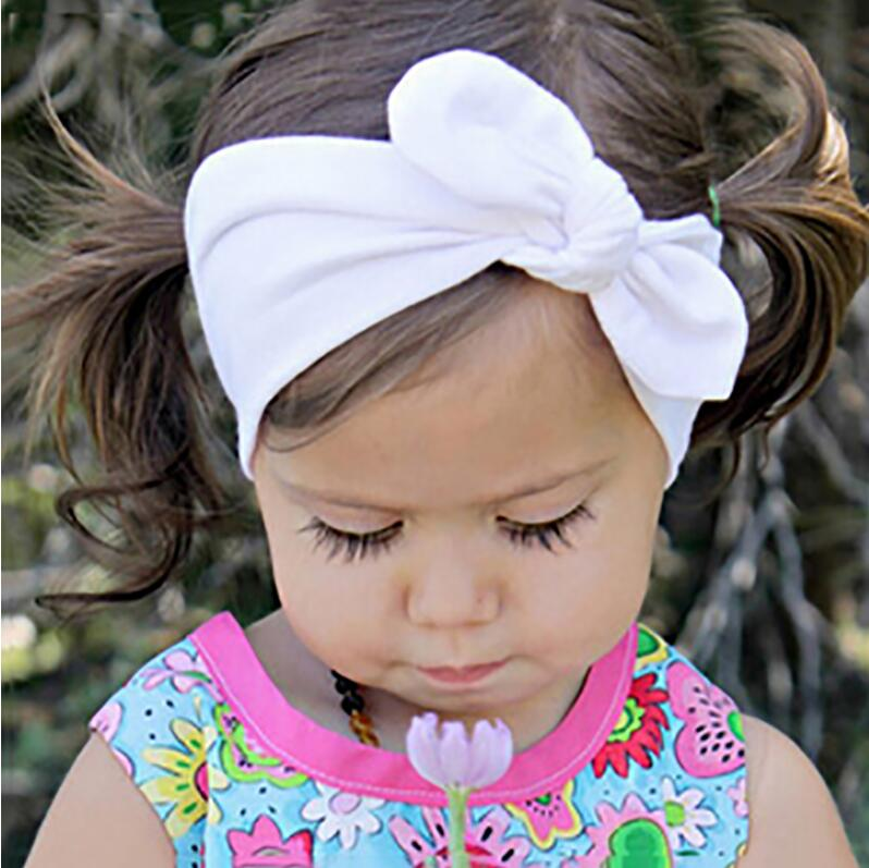 JRFSD Solid color knotting Headband Cotton material Hair Accessories Suitable for 0-7 year old kid Hair bands for Girls Headwear jrfsd cute solid color headband knot hair bands elasticity hairbands 100