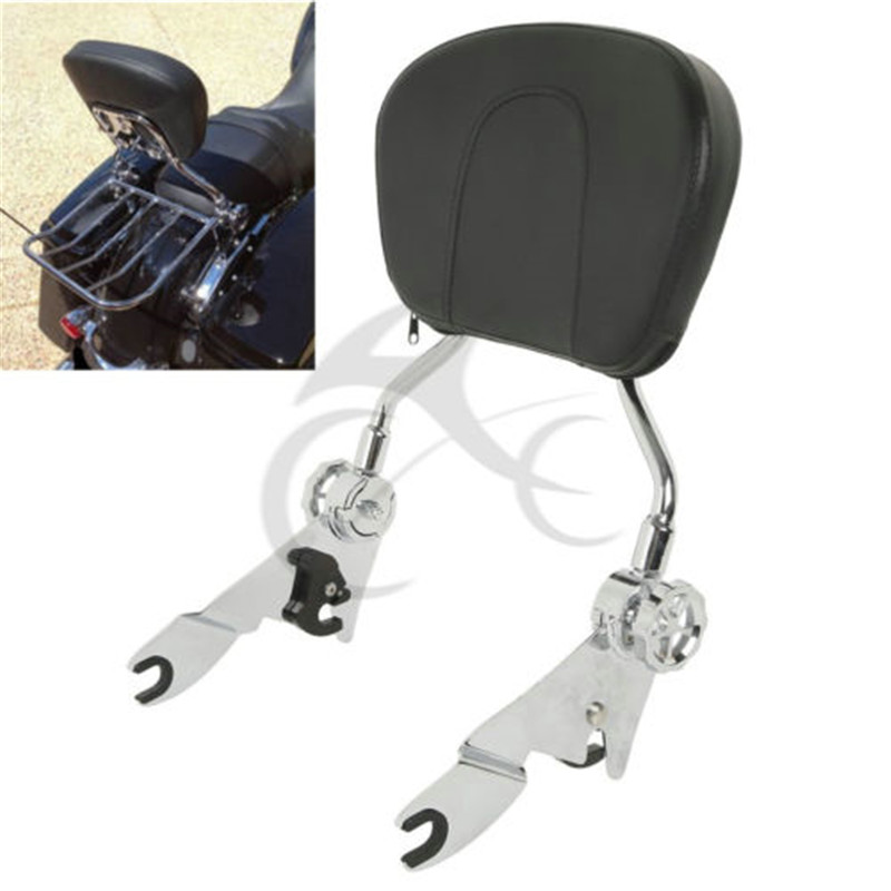 Coussin amovible Sissy Bar avec dossier pour Harley Touring Elelctra Street Glide 2009-2018 10 11 12 13 14 accessoires moto