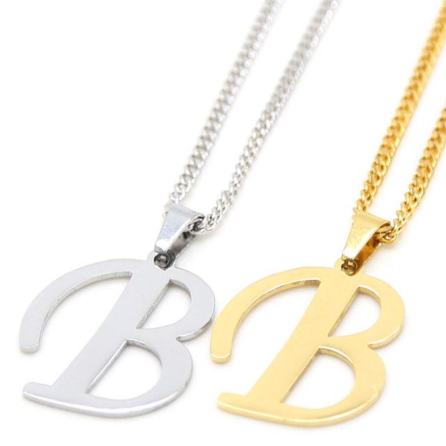 Online shop 2016 fashion alphabet letter pendant necklace classic 2016 fashion alphabet letter pendant necklace classic gold and silver color a m english capital letter l pendant necklace mozeypictures Choice Image