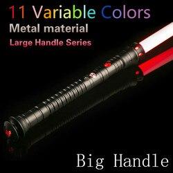 Sable de luz LED fuerza FX sable de luz con sonido y empuñadura de Metal ligero Wars espada juguete para niños Cosplay láser regalo parpadeante