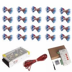 1000 sztuk WS2811 moduł led pikseli IP68 500 sztuk RGB rozproszone adresowalny 12mm na list znak reklama DC 5 V + T1000S kontroler