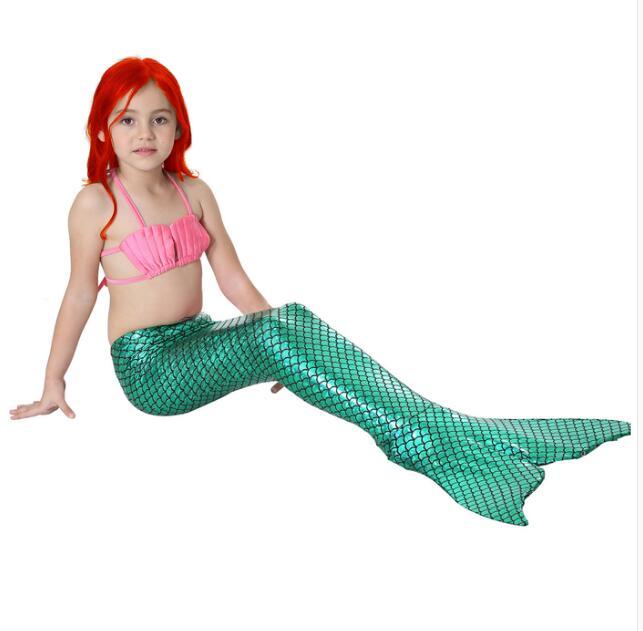150 cm queue de sirène maillot de bain pour enfants Fotografia fille vêtements photographie accessoires fille cadeau d'anniversaire