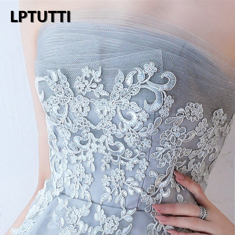 LPTUTTI Strapless Lace New Woman Plus Size Social Festive Elegant Formal Prom Party Gowns Fancy Short Luxury Cocktail Dresses