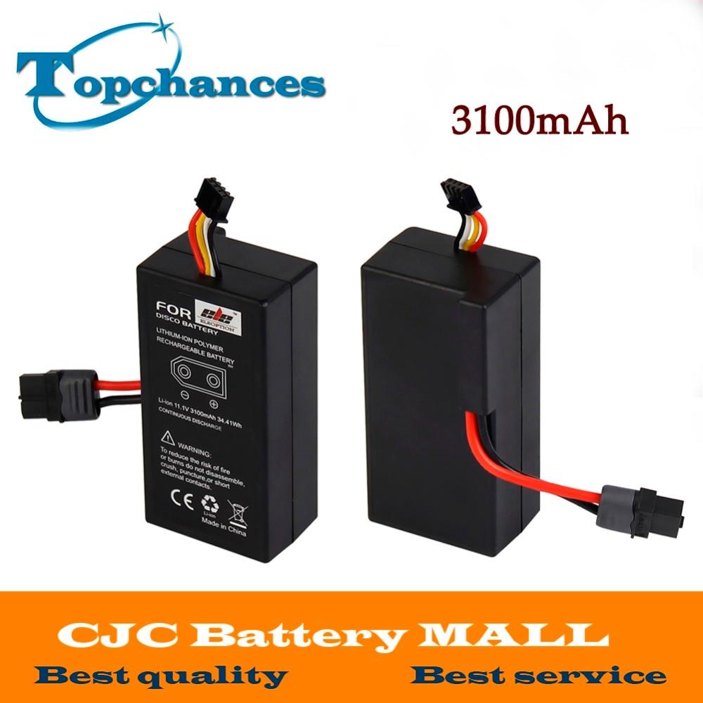 цена на 2PCS High Quality Rechargeable battery For UAV Parrot Disco FPV 11.1v Lithium-ion Polymer Rechargeable Battery 3100mAh