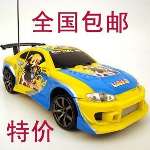 Toyota Supra cool magic gun Lyrical Nanoha pain ultimate drift car remote control car remote control car assembly