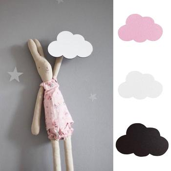 Nordic Style Wall Hook Cartoon Cloud Kids Room Wooden Stickers Hanging Home Decor Decoration wall art Small cloud