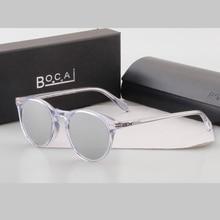 BOCAI brand new fashion round frame Style photochromic 5256 men women sunglasses polarized white mirror color sunglasses