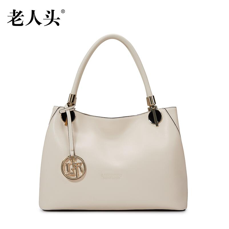 LAORENTOU2016 new high quality luxury fashion brand shoulder portable leather bag counter genuine well known brands
