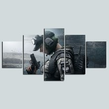 Printed Poster Wall Art Modular Pictures Game Tom Clancy'S Rainbow Six Siege Canvas Paintings Living Room Home Decoration Frame(China)