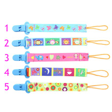 Newborn Baby Pacifier Clips Chain Nipple Holder Belt Teether Clip Strap Baby Safe Soother Chain For Infant Feeding M09