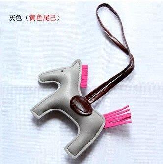 50pcs pu Leather Horse Keychain Animal Key Chain Women Bag Backpack Handbag Tassel Keychain Charm Pendant Accessories