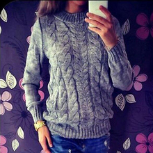 50pcs Women Long Sleeve Loose Sweater Knitted Outwear Casual Pullover New