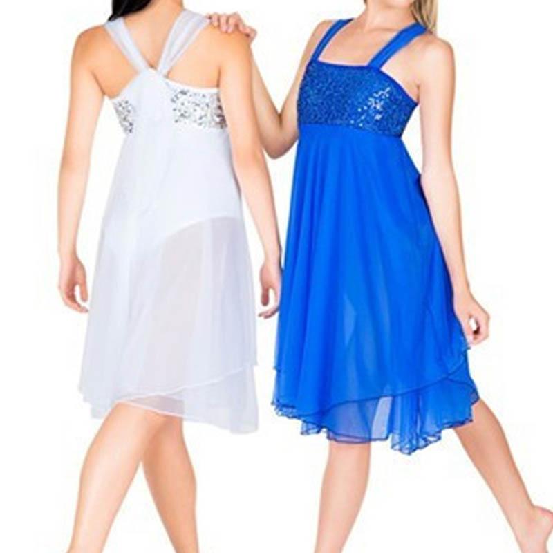 Лидер продаж профессиональные Балетные костюмы трико для Для женщин детская танцевальная одежда для девочек белого и синего цвета Танцы пл...