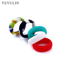 Hot sell 9 10 11 12 Size Environmental silicone vape Band Non Slip Ring For Men Sport Finger Jewelry(China)