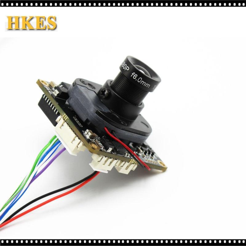 imágenes para De Visión amplio de 2.8mm de la Lente H.264 1080 P 720 P 960 P CCTV IP junta módulo de la cámara con cable LAN 16mm lente ONVIF P2P interior