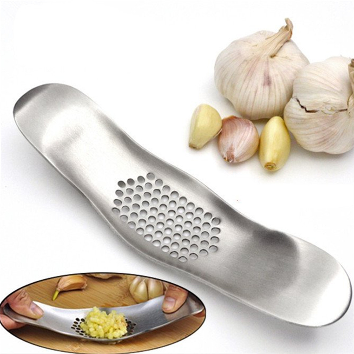 Professional Garlic Crusher Stainless Steel Solid Rocker Ginger ...