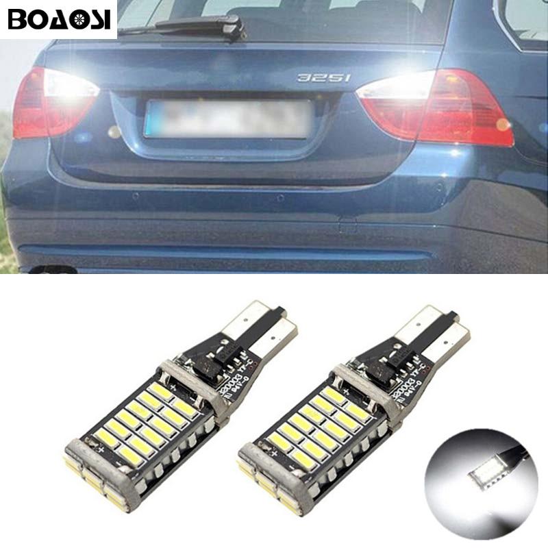 BOAOSI 2 раза по canbus t15 светодиодные Обратный свет автомобиль водить безошибочной Резервный свет лампы для BMW E60 и E61 5 серии Ф10 Ф11 Ф07 Е90 мини Купер