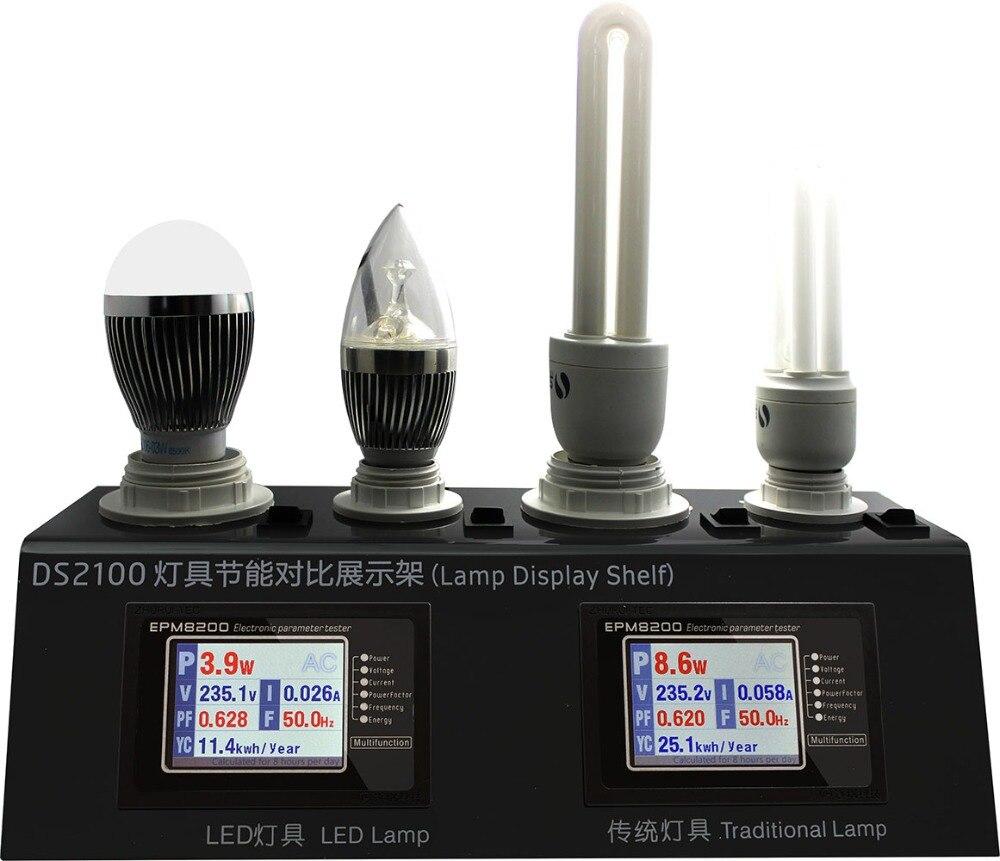 DS2100 монитор мощности анализатор мощности тест V A P PF частота годового потребления энергии с 2 метрами и 2 гнездами 4 лампами