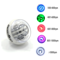 5 LED Color Gym Gyroscope Force Balls Autostart Gyro Power Cuffs Hand Ball Wrist Arm Exercise Fortifying Fitness