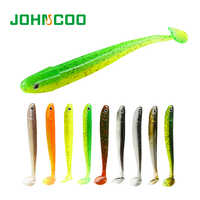 Fishing Lure Soft Swimbait Shad Artificial Fishing Bait Jig Worm Bait Silicone Bass Minnow Lure Pasca JOHNCOO Soft Lure