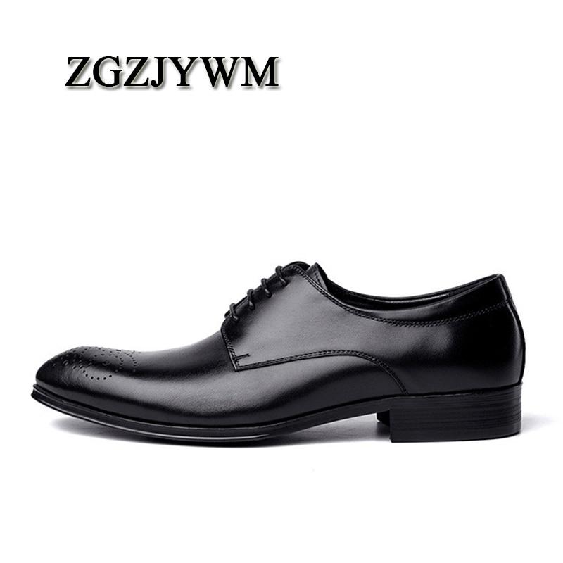 Negócios Zgzjywm Escritório Couro up De High Moda Borracha Sólidos Black Dos Genuíno Homens Casamento Sapatos red Lace Toe Vestido Oxfords Apontou end zxwrzEqHA