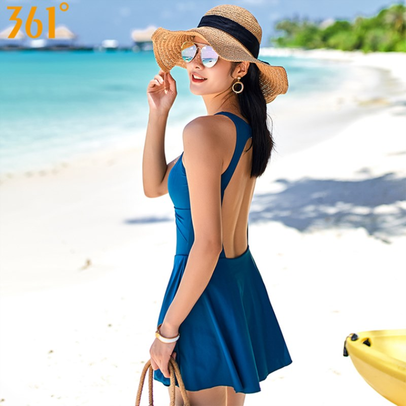 361 Monokini Swimsuit <font><b>One</b></font> <font><b>Piece</b></font> <font><b>Skirt</b></font> <font><b>Swimwear</b></font> Backless Bathing Suit for Women 2018 Beach Wear Swimming Dress Ladies Swimsuits image