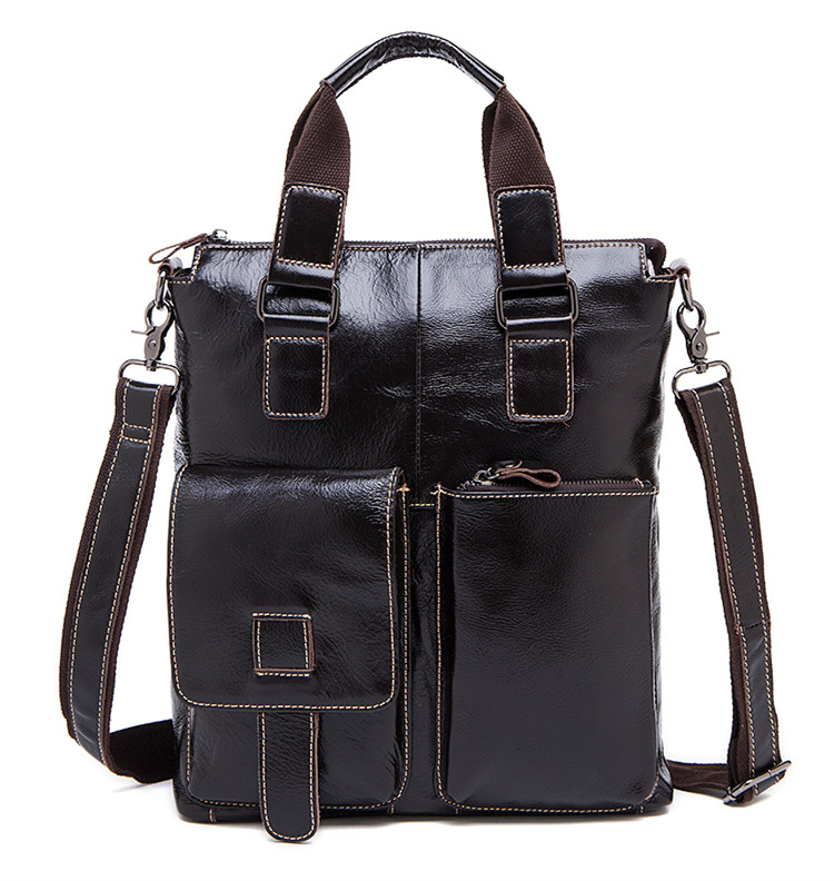 2017 Men messenger bags genuine leather bag men briefcase fashion designer handbags high quality famous brand business bag