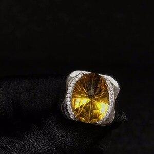 Image 2 - 天然シトリン男性のリング、美しい宝石からブラジル、 925 スターリングシルバー、精密製造