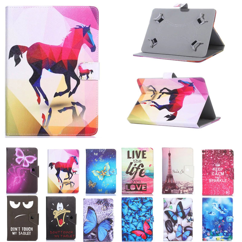 Cartoon Cover for BQ Aquaris M10 Ubuntu Edition/Tesla 2 W10/E10 <font><b>10.1</b></font> Inch <font><b>Tablet</b></font> UNIVERSAL PU Leather <font><b>Case</b></font> for <font><b>Kids</b></font> image