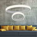 Moderne Esszimmer LED Runde Anhänger Beleuchtung LED Oval Hängen Lampe Luxus acryl Küche Anhänger Lampe led indoor lampe 90 ~ 260v-in Pendelleuchten aus Licht & Beleuchtung bei