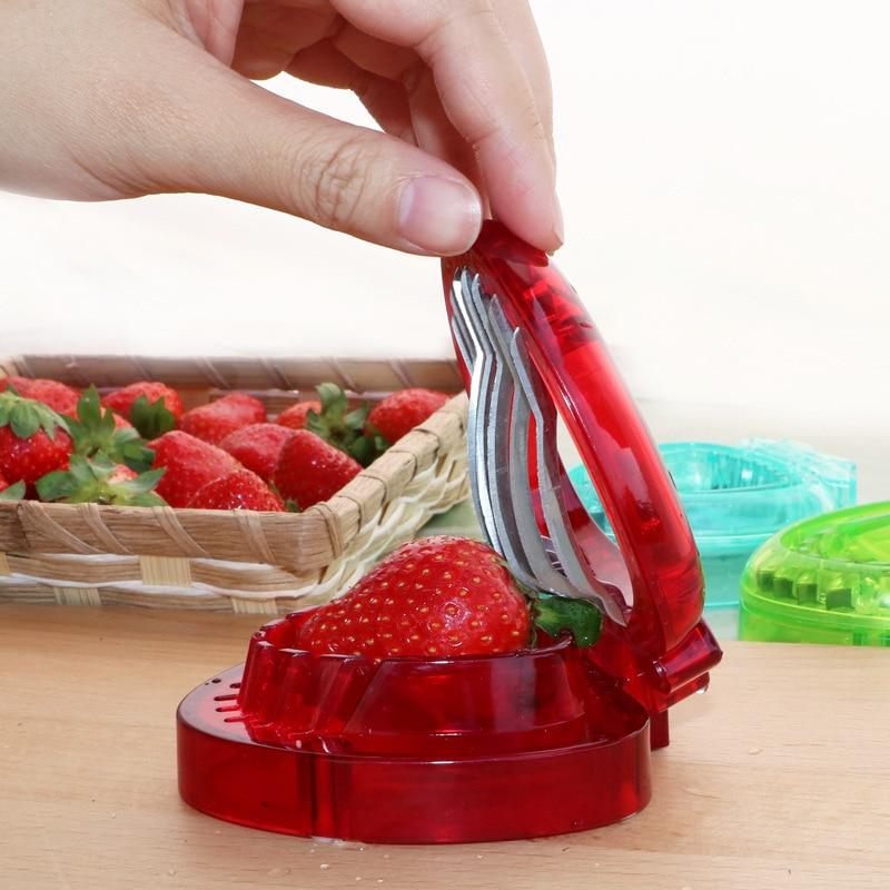 Butihome Kitchen Tools Creative Strawberry Slicer Fruit Slicer Vegetable  Fruit Tool Kitchen Accessories In Shredders U0026 Slicers From Home U0026 Garden On  ...